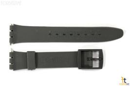 12mm da Donna Scuro Grigio Ricambio Fascia Cinturino per Swatch Orologi ... - $9.89