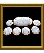 "Antique ""LRL Laviolette"" Limoges Porcelain Ice Cream Set - 7  pieces - $300.00"
