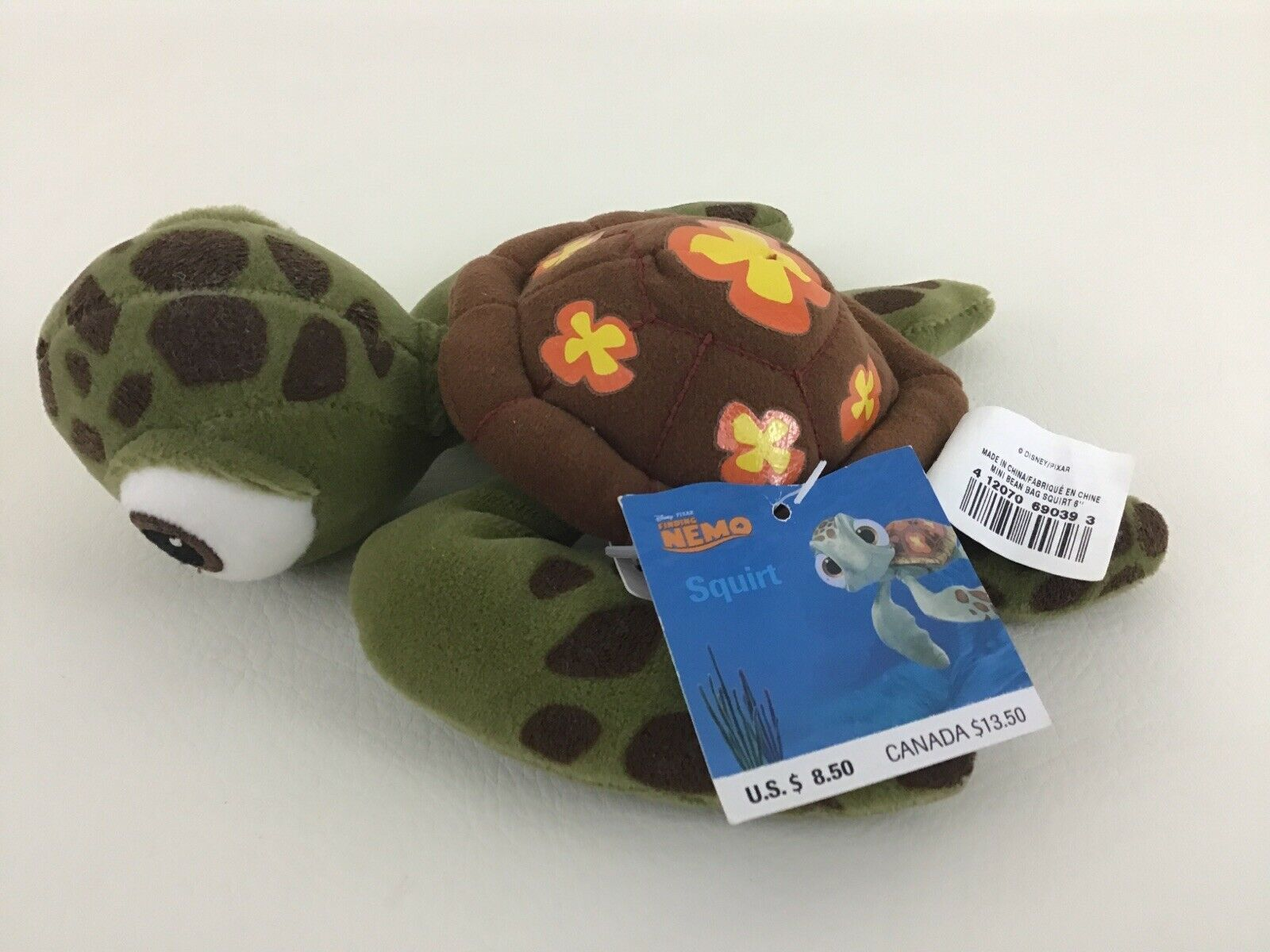 Primary image for Disney Store Finding Nemo Squirt Turtle Mini Bean Bag Plush Stuffed Toy New 6""
