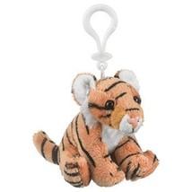 Plush Tiger Stuffed Animal Backpack Clip Toy Keychain WildLife - $8.90