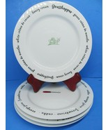 4 Pottery Barn Alcohol Plate Appetizer Bar Funny Dish Bundle of 4 - $19.59