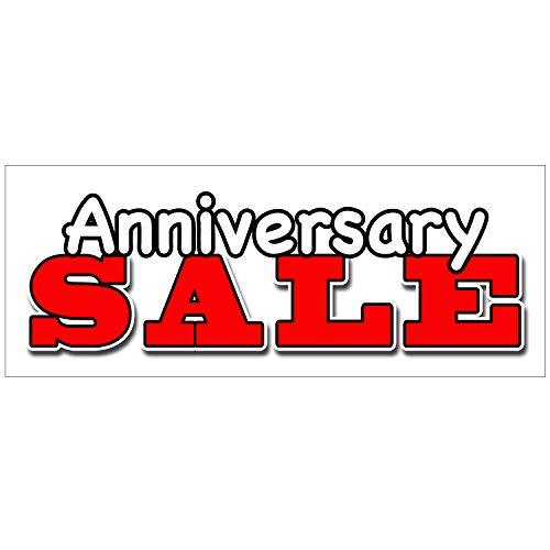 BANNER BUZZ MAKE IT VISIBLE Anniversary Sale Vinyl Banner 11 oz with Metal Gromm
