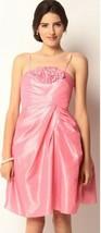 $418 Betsey Johnson Shake Your Chica Boom Taffeta Bubble Gum Pink Dress - $85.50