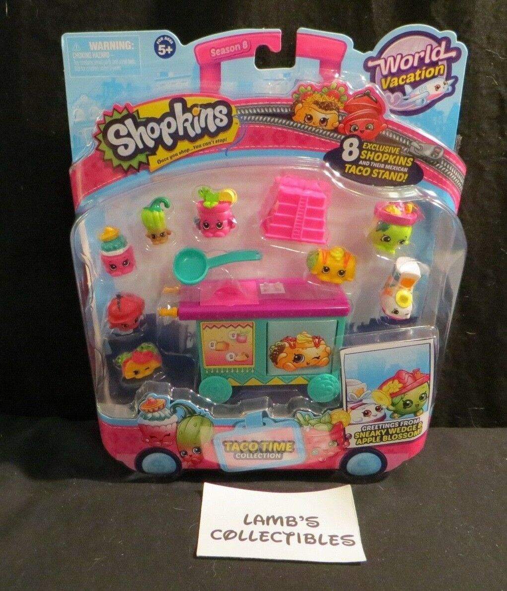 Primary image for Shopkins World Vacation 8 pack Taco Time collection exclusive toy figures