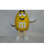 M  Ms Yellow Peanut Single Candy Dispenser 6 Inches Tall 1999 - $6.99