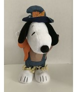 """Thanksgiving Snoopy Peanuts Fall Scarecrow Musical Plush Dances 12"""" Fall... - $21.50"""