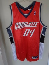 Vintage Reebok 2004 Charlotte Bobcats  # 04 Men L 48 Stitched Basketball... - $47.03