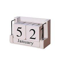 George Jimmy Wooden Permanent Calendar Creative Calendar Decoration for ... - $35.37