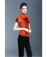 Women's 3D Floral Pleated Blouse (Premium) - $73.11