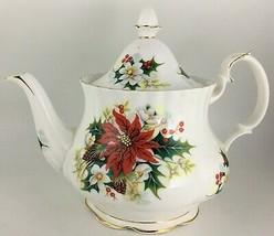 Royal Albert Poinsettia Teapot & lid - $175.00