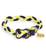 Dabney Lee Blue Gold & White Braided Dog Collar's Sz XS, S & M NEW  - $12.80