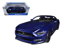 2015 Ford Mustang GT 5.0 Blue 1/18 Diecast Car Model by Maisto - $39.99