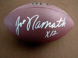 JOE NAMATH X 12 1969 NY JETS SBC HOF SIGNED AUTO WILSON FOOTBALL NFL GRI... - $296.99
