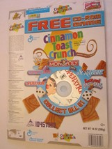 Cereal Box 2003 CINNAMON TOAST CRUNCH with CD-ROM GAME Operation 14 oz - $19.85