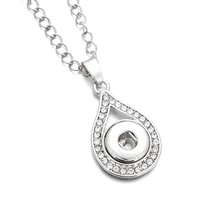 New Snap Jewelry White Crystal Water Drop Necklaces & Pendants Vintage S... - $9.48