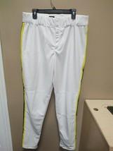 New Adidas Players ID White Yellow Blue Stripe Baseball Pant 38 Inch +2 Length - $14.25