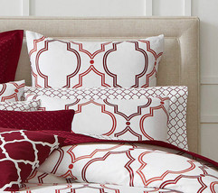 New Charter Club Damask Designs Geometric Ogee Garnet Standard Pillow Sh... - $13.69
