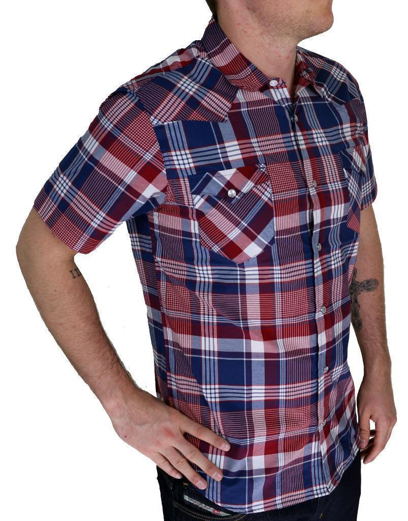 BRAND NEW LEVIS MEN'S CLASSIC COTTON CASUAL BUTTON UP SHIRT MULTI RED SIZE S