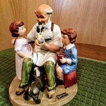 Vintage 1980 Norman Rockwell Toy Maker Figurine Collector's Club  image 4