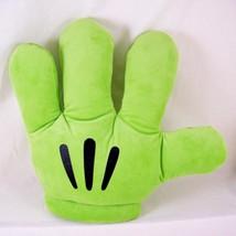 Disney Parks Mickey Mouse Glove Plush Hand Mitt Green Costume Left Lime ... - $9.49