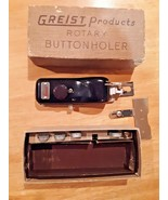 Greist Products Sewing Machine Attachments Rotary Buttonholer Vintage - $9.89