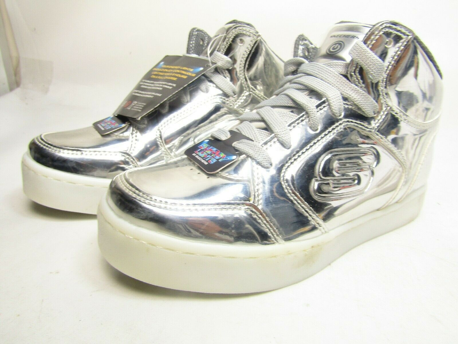 Youth Boy's Skechers S Lights-Energy Lights Eliptic Sneakers Silver   US 3