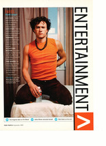 Heath Ledger teen magazine pinup clipping on a bed water bottle