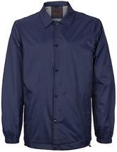 Men's Lightweight Water Resistant Button Up Nylon Windbreaker Coach Jacket image 7