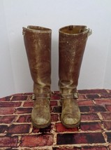 Vintage High Top Distressed Western Buckle Cowboy Boots Men's Size 7.5 D o - $34.29