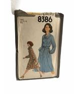 Simplicity 8363 Misses Dress Cowl Collar Raglan Sewing Pattern Size 10-12 - $9.89