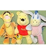 Pooh BABY PLUSH LOT Rattles TIGGER EEYORE Disney Crinkle Pastel Stuffed ... - $24.75