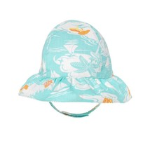 NWT Gymboree Seashore Smiles Baby Girl Turquoise Floral Sun Hat 6-12 12-18 M - $7.99