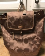 Coach Backpack Brown Packable Nylon Style Number 30781 #340 - $88.83