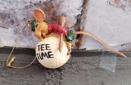 Kurt Adler Hole In Wall Gang Christmas Ornament Tee Time Mouse On Golf Ball - $12.99