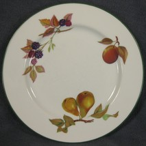 Royal Worcester Evesham Vale Salad Plates England Porcelain Peach Pears Berries - $27.95