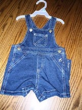 Baby boys size 0-3 months or 3-6 months Faded Glory denim overall shorts - $7.99