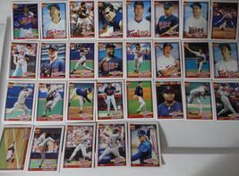 1991 Topps Minnesota Twins Team Set of 29 Baseball Cards - $7.00
