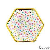 Confetti Party Paper Dinner Plates - $12.98