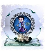 Personalised Betty Boop Cut glass plaque Champagne Toast Ltd Edition |8 - $32.02