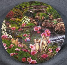 Nine Lives Collector Plate Garden Secrets B Higgins Bond Knowles Kittens... - $14.95
