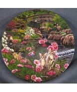 Nine Lives Collector Plate Garden Secrets B Higgins Bond Knowles Kittens... - $14.95
