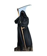 Grim Reaper Halloween Lifesize Standup Standee Cardboard Scary Life Size... - $39.55