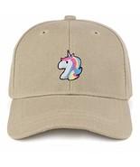 Trendy Apparel Shop Unicorn Patch Structured Infant Baseball Cap - Khaki - $16.99