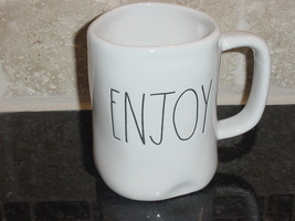 Rae Dunn ENJOY Mug, Ivory with Black Lettering - $11.00