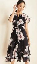 NWOT Women's Ann Taylor Floral Print Tiered Flounce Dress Sz 8 - $26.72