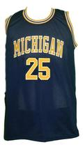 Jun Howard #25 College Basketball Jersey Sewn Navy Blue Any Size image 1