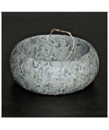 64mm Silver Winter Metallic Fabric Bangle with Holly Filigree Wood Woode... - $10.00