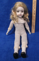 Vintage Doll Bisque Head Breast Plate Hands Shoes & Feet Blonde Hair Clo... - $10.88