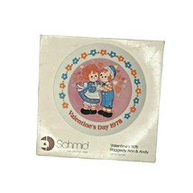 Raggedy Ann & Andy 1978 Valentine's Day Plate Produced by Schmid Vintage - $14.85