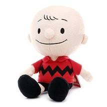 New! PEANUTS 50th Anniv. Bean Doll Plush Doll Charlie Brown Snoopy Red J... - $46.74